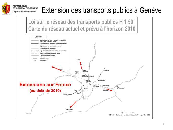 Extension des transports publics à Genève