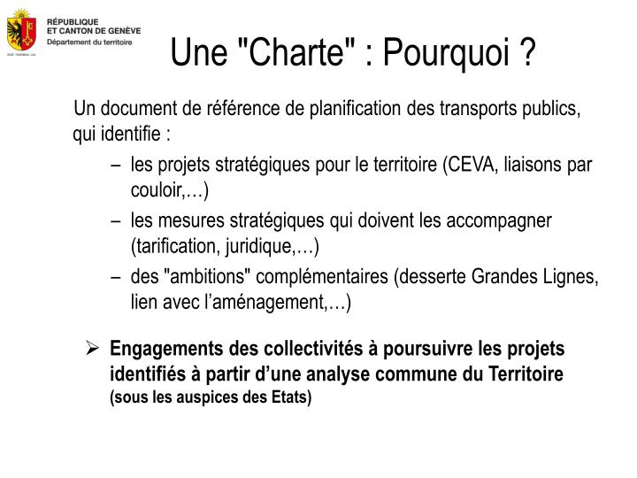 """Une """"Charte"""" : Pourquoi ?"""