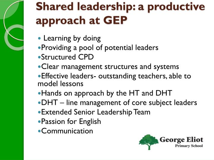 Shared leadership: a productive