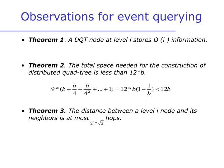 Observations for event querying