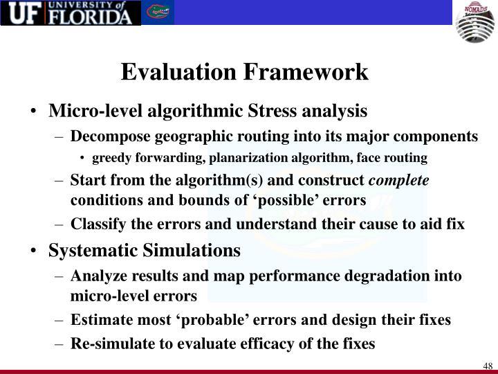 Evaluation Framework