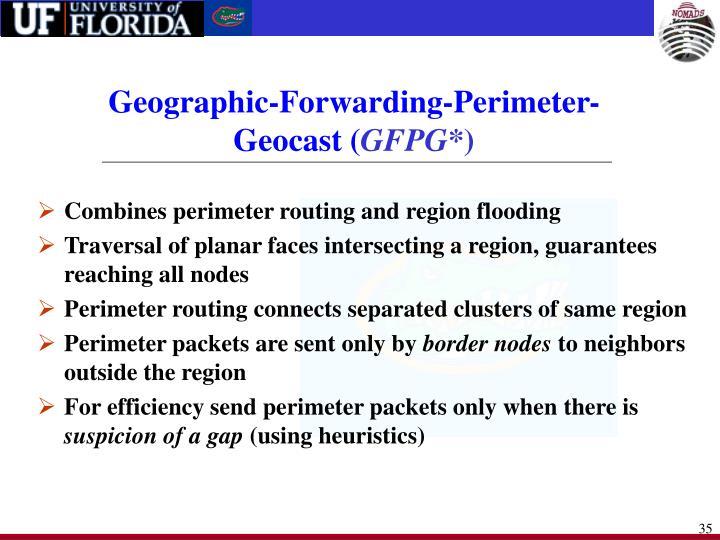 Geographic-Forwarding-Perimeter-Geocast (