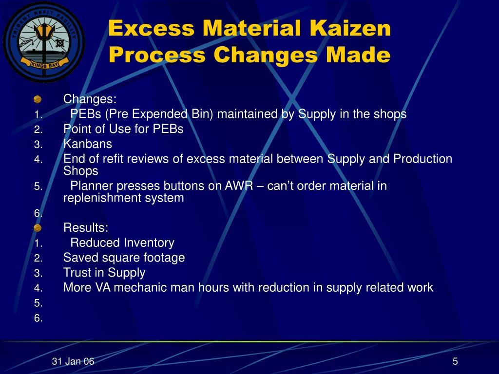 PPT - Lean Repair Excess Material Kaizen Trident Refit Facility