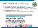 formation of bpc community