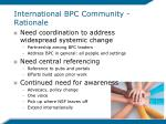 international bpc community rationale1