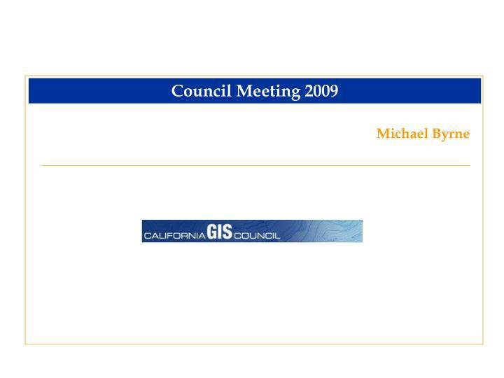 Council Meeting 2009