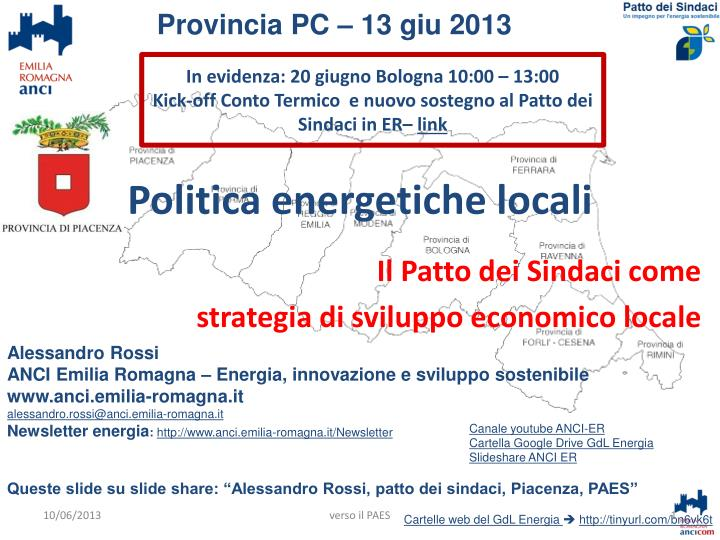 politica energetiche locali n.