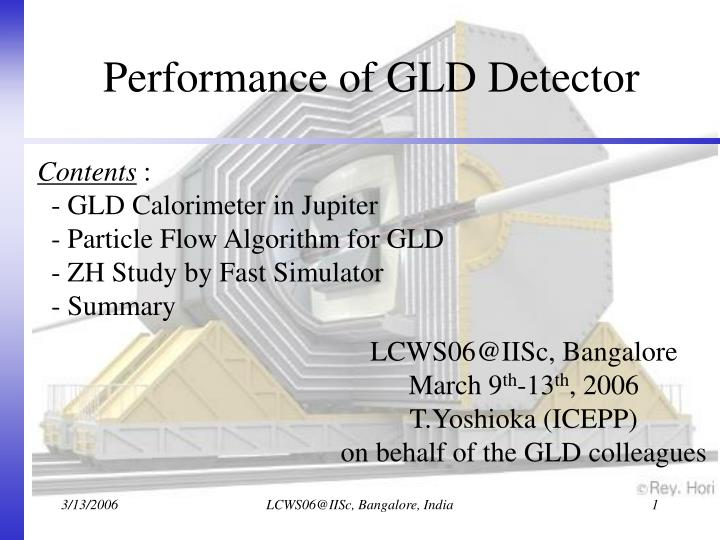 Performance of GLD Detector