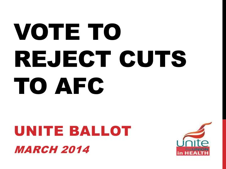 vote to reject cuts to afc n.
