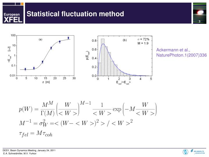 Statistical fluctuation method