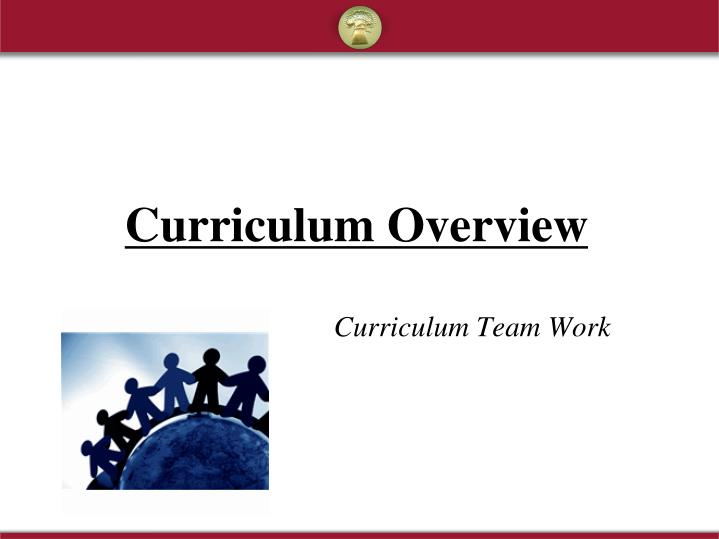 curriculum overview n.