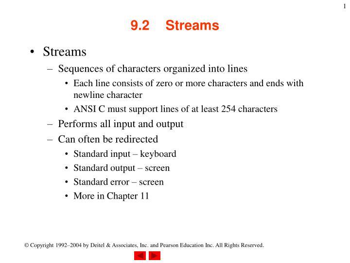 9 2 streams n.