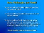 basic philosophy and model