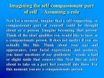 imagining the self compassionate part of self assuming a role