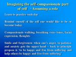 imagining the self compassionate part of self assuming a role1