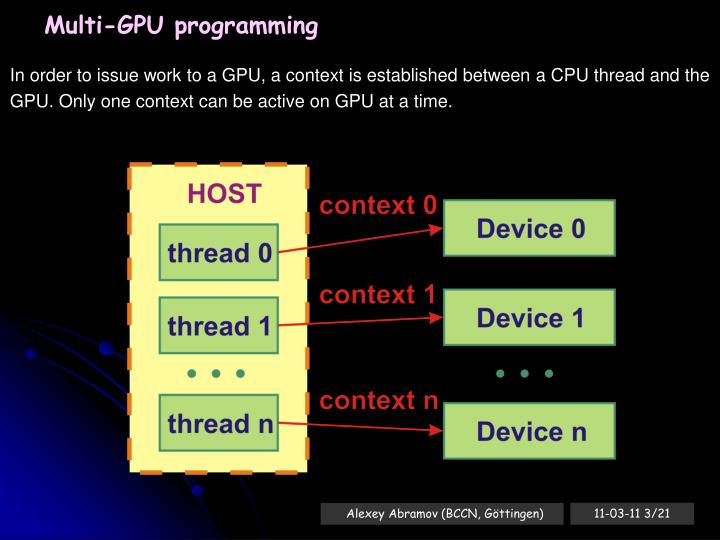 Multi-GPU programming