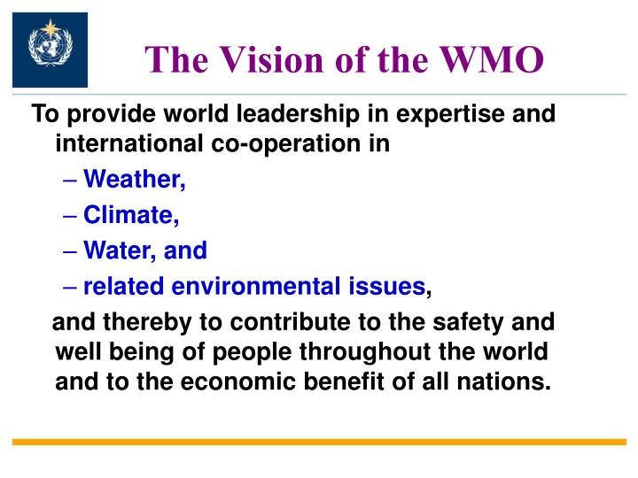 The Vision of the WMO