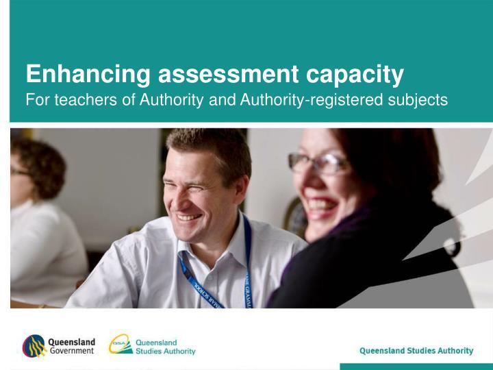 enhancing assessment capacity n.