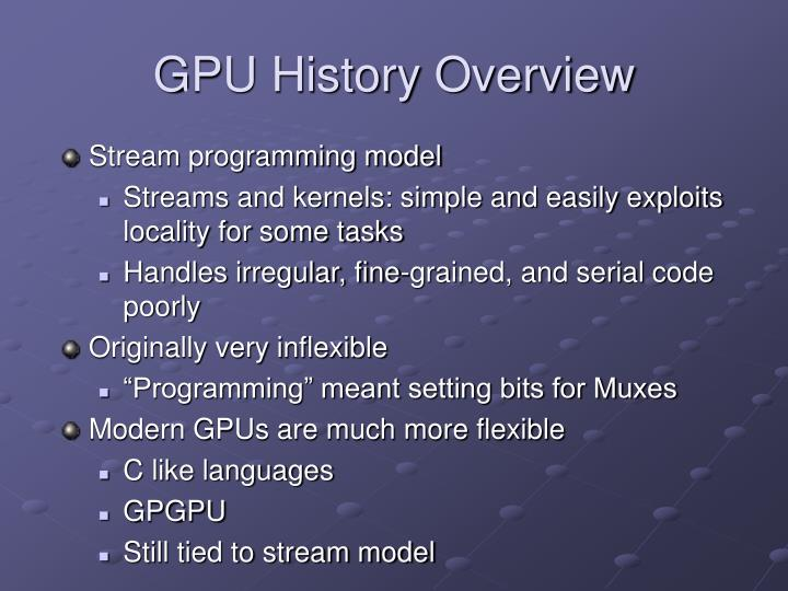 GPU History Overview