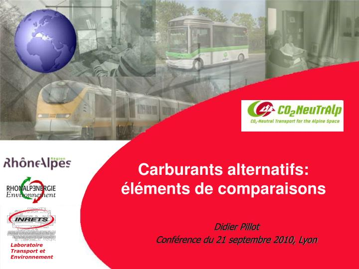 carburants alternatifs l ments de comparaisons n.