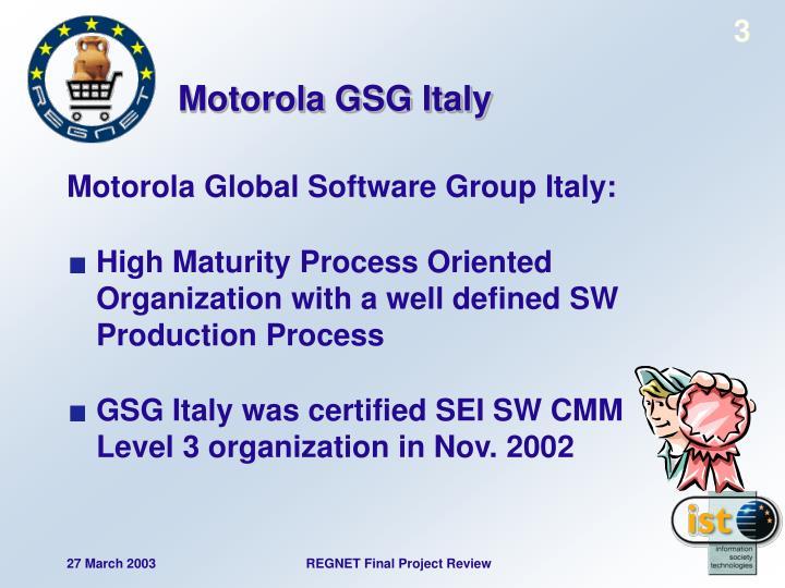 Motorola gsg italy