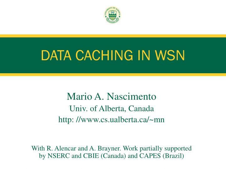 data caching in wsn n.