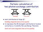 partonic calculation of two photon exchange contribution