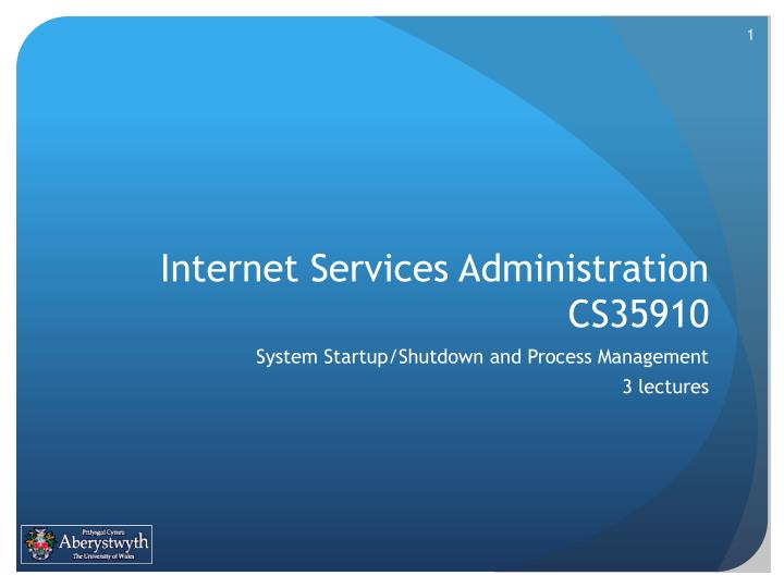 internet services administration cs35910 n.