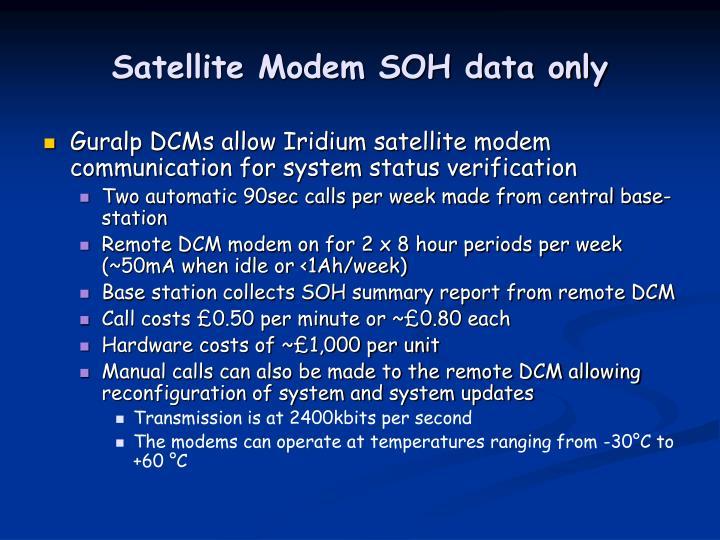 Satellite Modem SOH data only