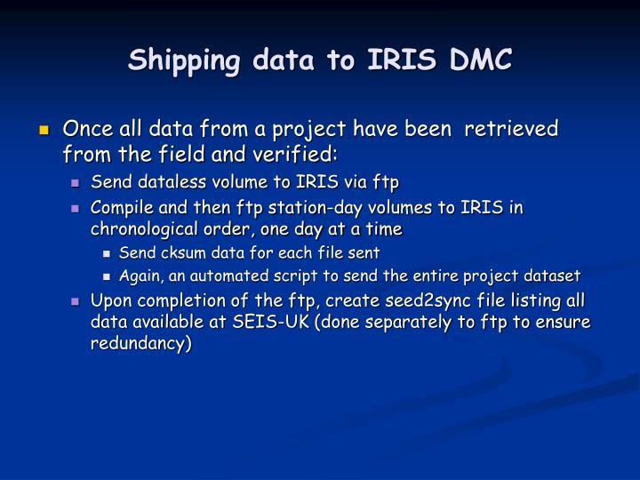 Shipping data to IRIS DMC