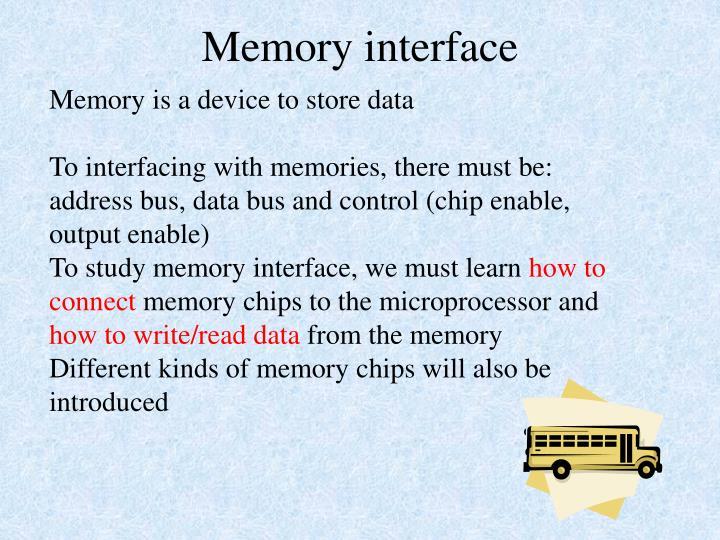 memory interface n.