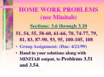 home work problems use minitab