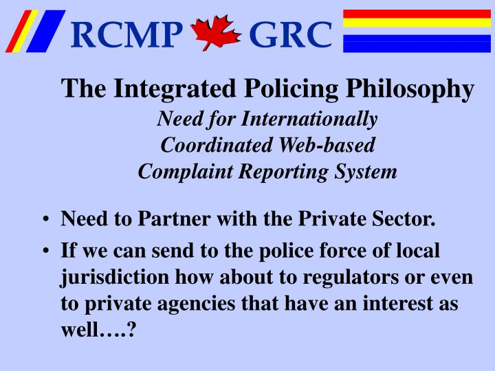 The Integrated Policing Philosophy