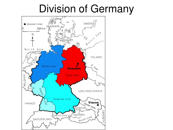 german division in cold war The division of germany during 1945, the allies began organising their respective occupation zones in germany the americans occupied the south, the british the west and north, france the south-west, and the soviets central germany.