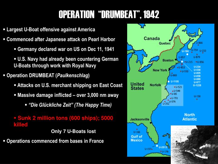 "OPERATION  ""DRUMBEAT"", 1942"