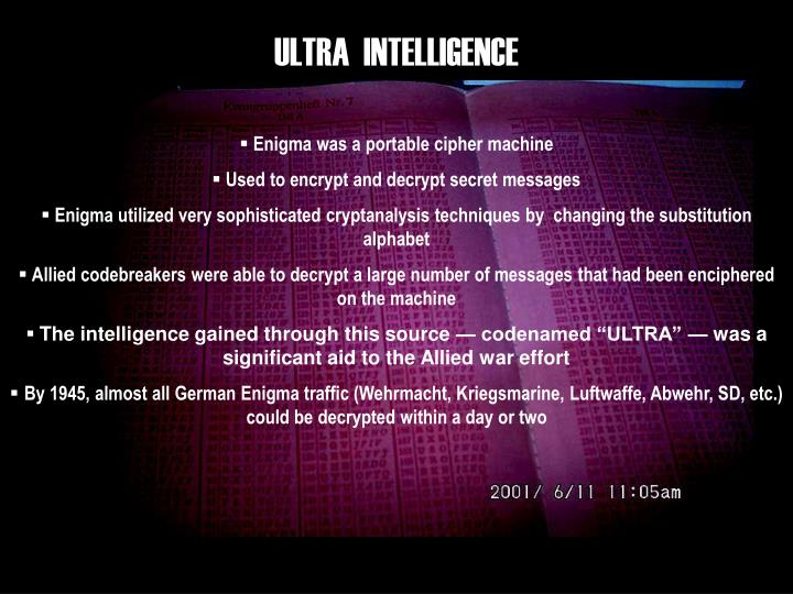 ULTRA  INTELLIGENCE