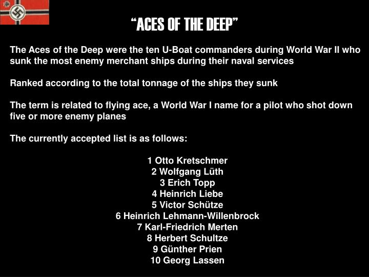 """ACES OF THE DEEP"""