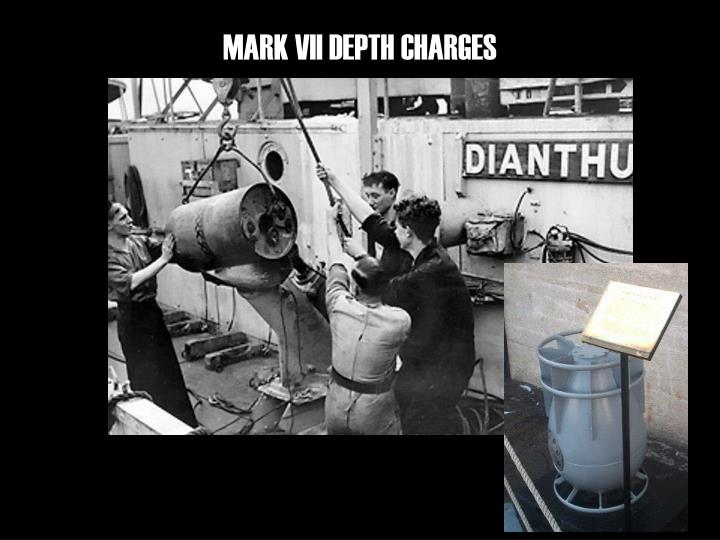 MARK VII DEPTH CHARGES
