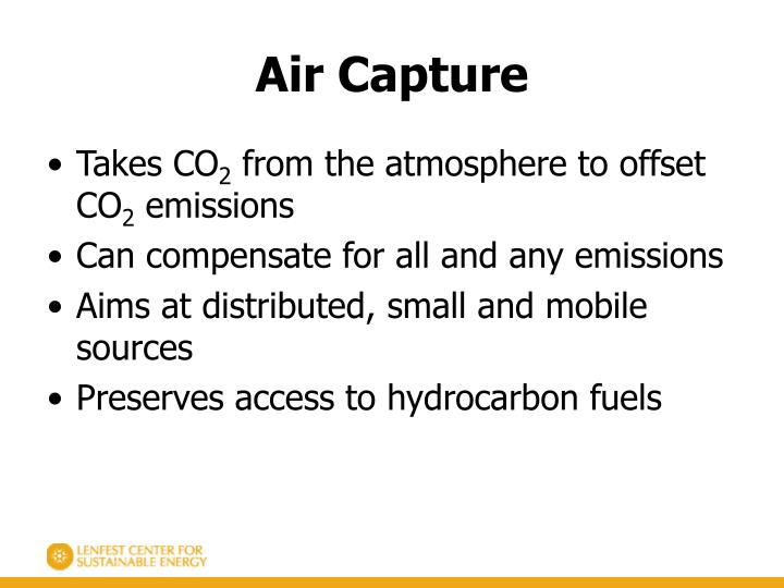 Air Capture