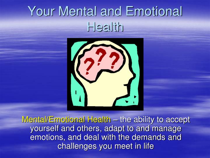 emotions and mental health The state of mental health and aging in america the state of mental health and aging in america mental health problems in older social and emotional support.