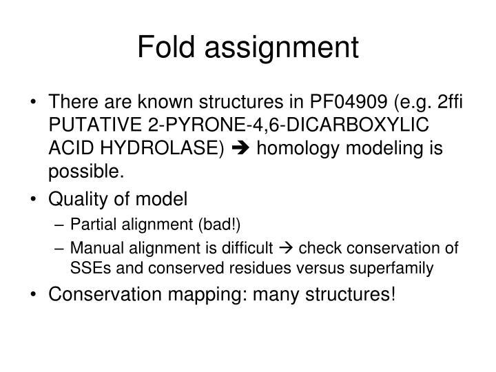 Fold assignment