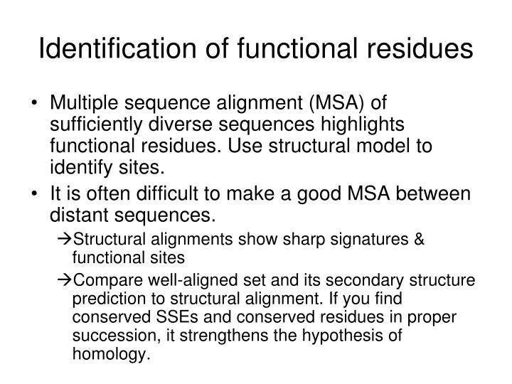 Identification of functional residues