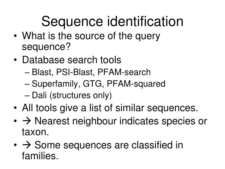 Sequence identification