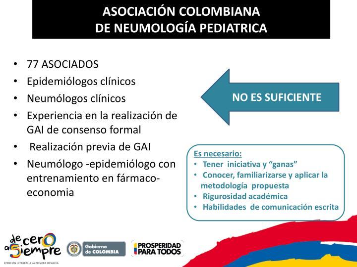 Asociaci n colombiana de neumolog a pediatrica