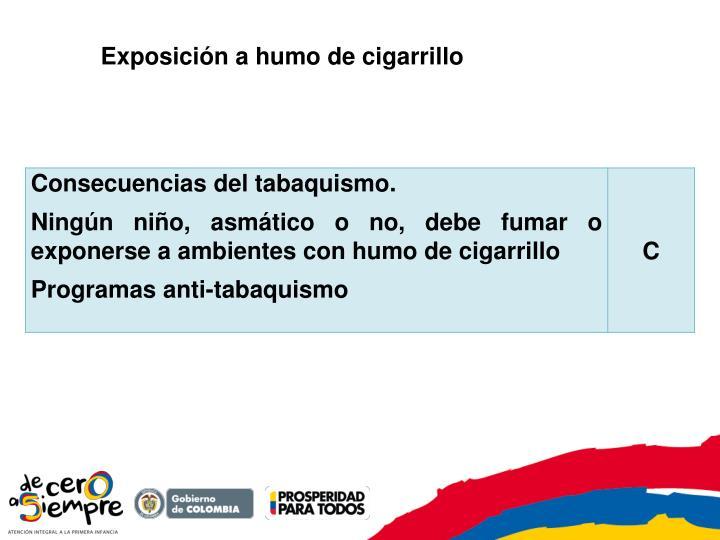 Exposición a humo de cigarrillo