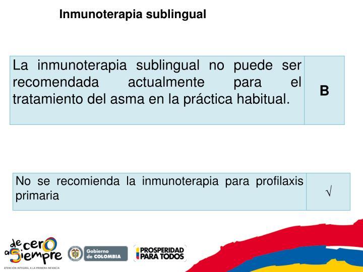 Inmunoterapia sublingual