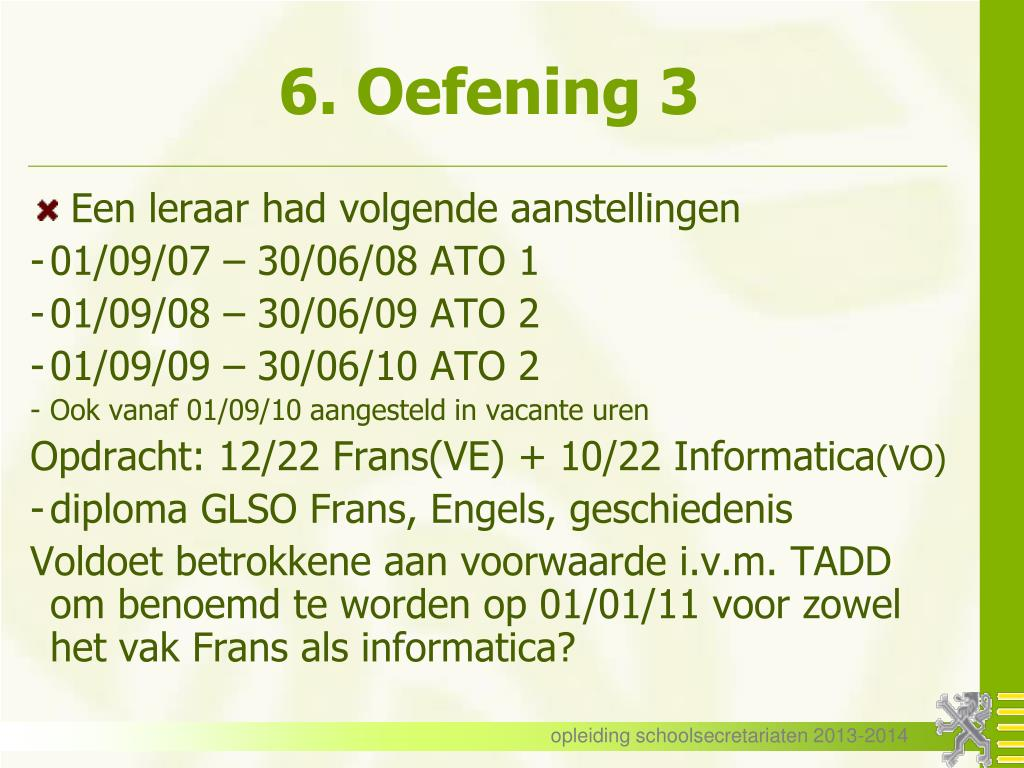 PPT - Vaste benoeming PowerPoint Presentation - ID:3306666