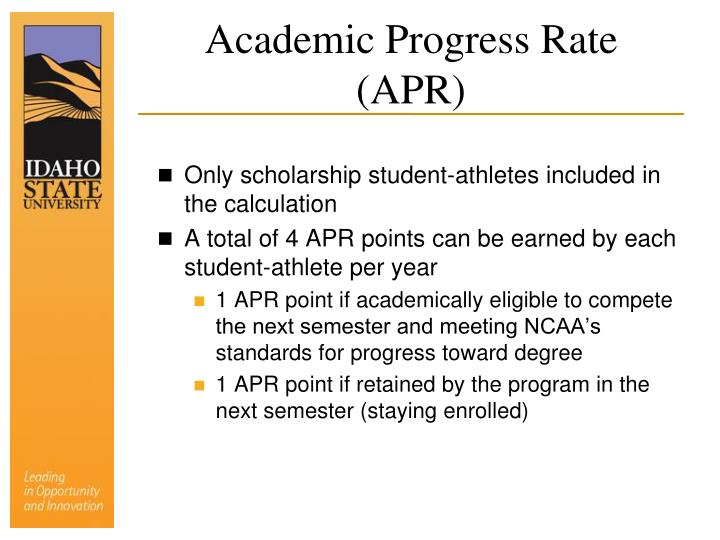 Academic Progress Rate (APR)