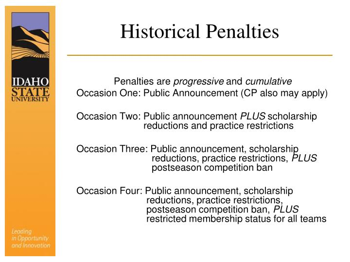 Historical Penalties