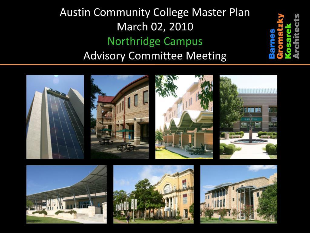 acc northridge campus map Ppt Austin Community College Master Plan March 02 2010 acc northridge campus map